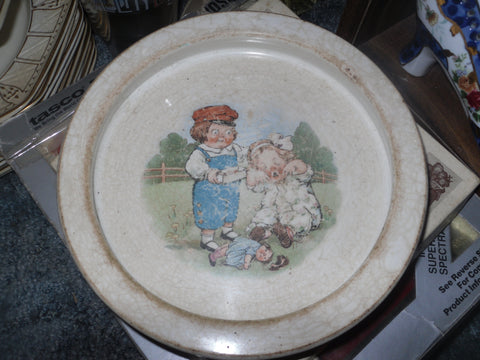 Antique Buffalo Pottery Advertising Grace Drayton Campbell's Kids Child's Bowl - Back from the dead antiques