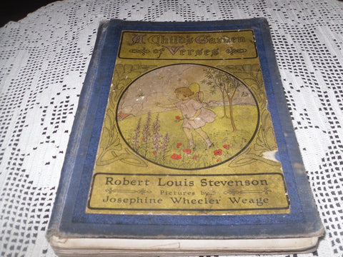 A Child's Garden of Verses by Robert Louis Stevenson 1917 Hardcover 1st Edition - Back from the dead antiques
