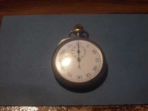 ANTIQUE POCKET WATCH STOP WATCH PARK WATCH CO SWISS WORKING?? PARTS - Back from the dead antiques