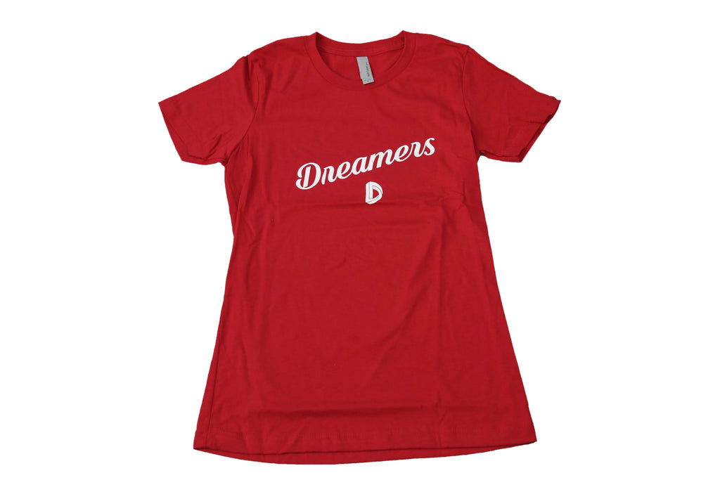Women's Cursive Slant (Red)