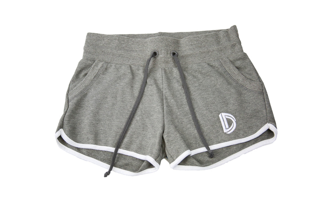 Women's Embroidered Logo Shorts (Grey)