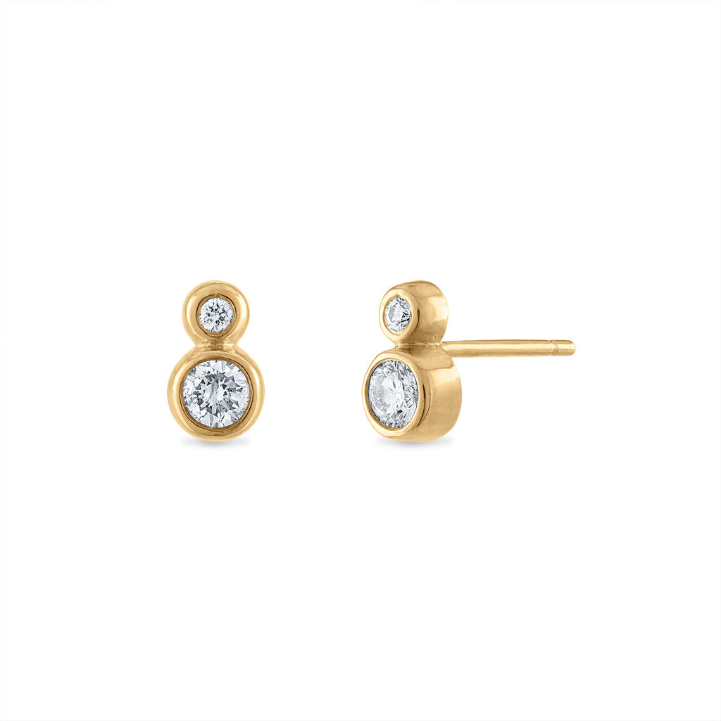 Double Bezel Diamond Studs
