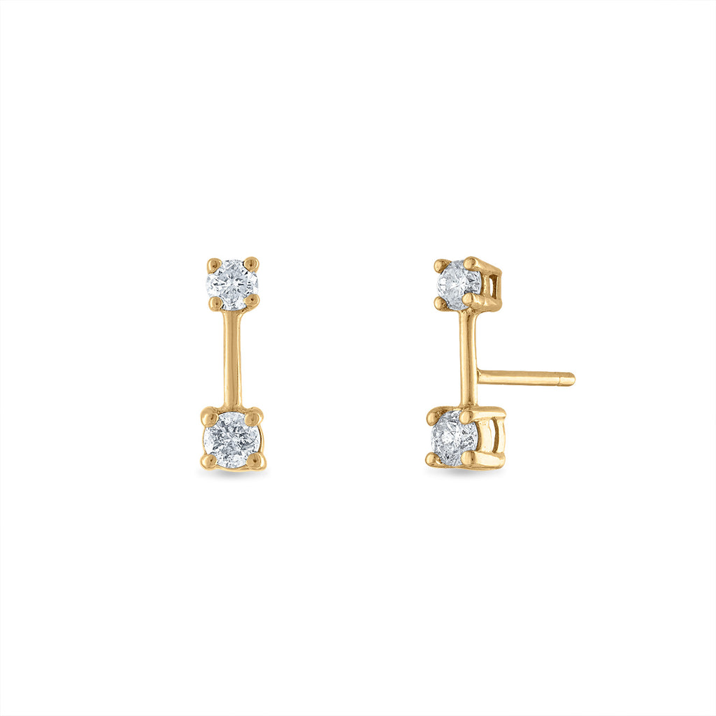 Diamond Ends Bar Studs