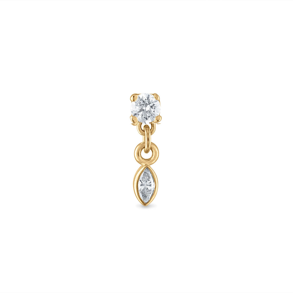Dangle Marquise Diamond Stud