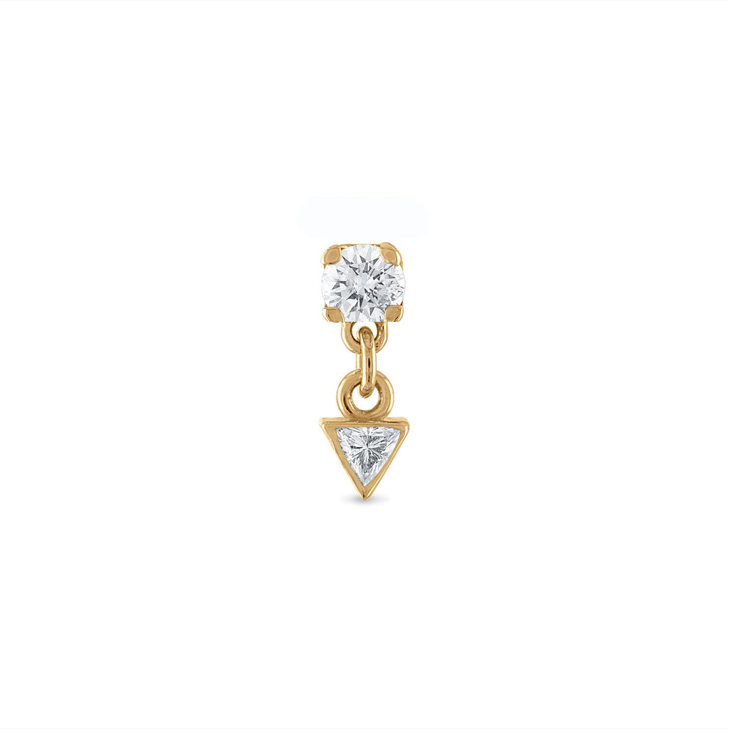 Dangle Triangle Diamond Stud