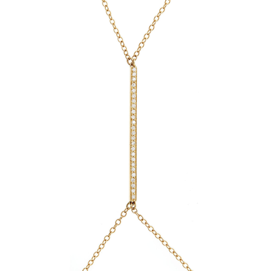 XXX Diamond Bar Body Chain