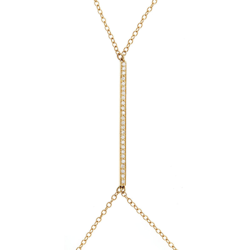 Sexy Diamond Bar Body Chain