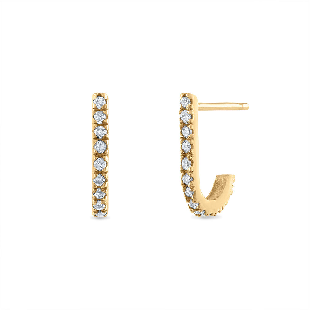 Diamond J-Hook Earring