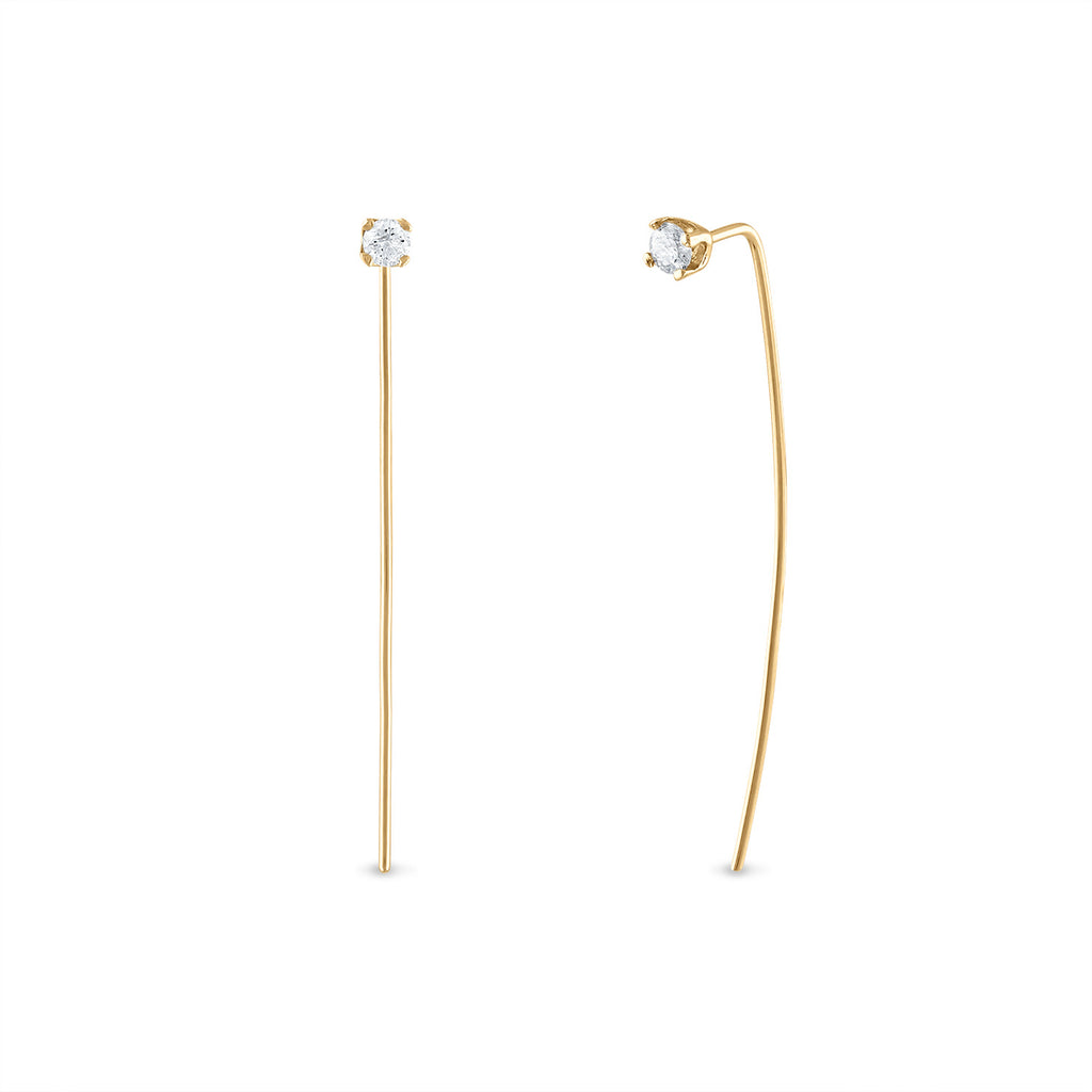 Diamond Long Pin Studs