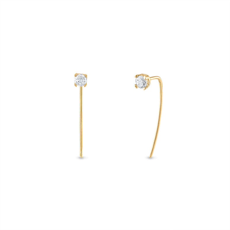 Diamond Pin Studs