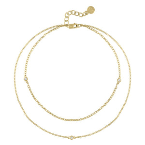 Two-Tier Diamond Anklet