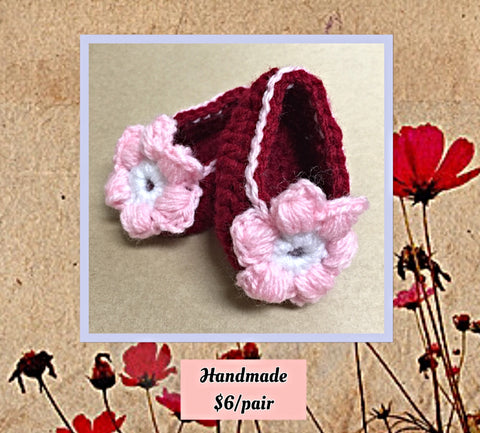 Baby Booties - Red