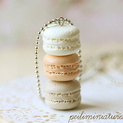Milk & Honey Macarons Necklace