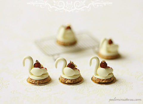 White Chocolate Swan Desserts