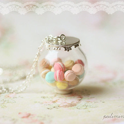 Pastel Glass Dome Necklace