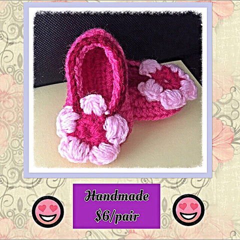 Baby Booties - Pink