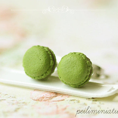 Green Tea Matcha Macaron Earrings
