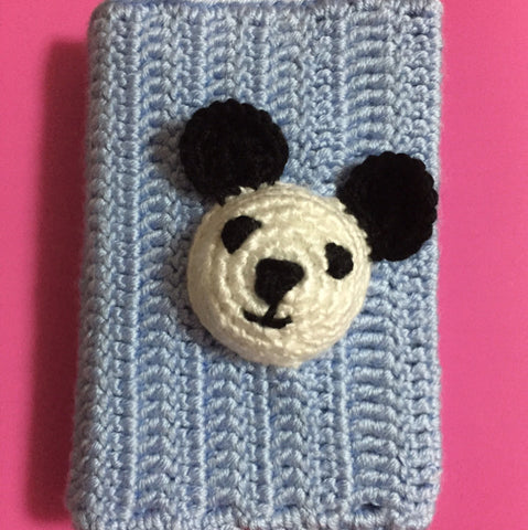 Slot Card Holder Cover With Pop Up Bear