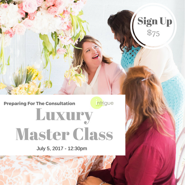 11. Luxury Master Class : Preparing For The Consultation