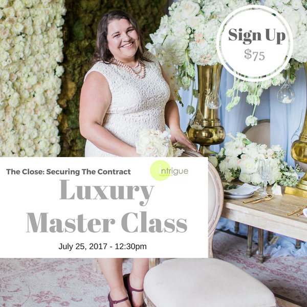 13. Luxury Master Class : Securing The Contract