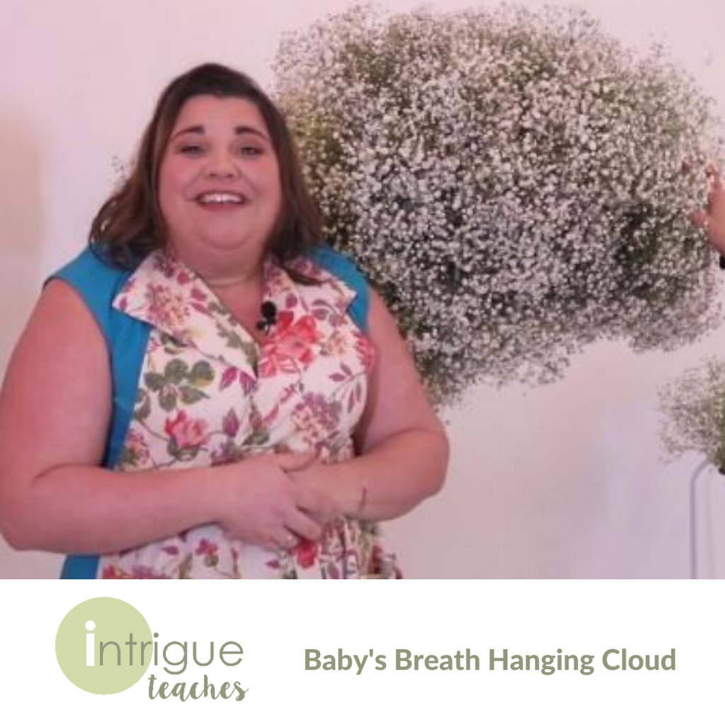 Baby's Breath Hanging Cloud Installation