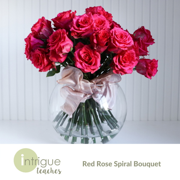 Red Rose Spiral Bouquet