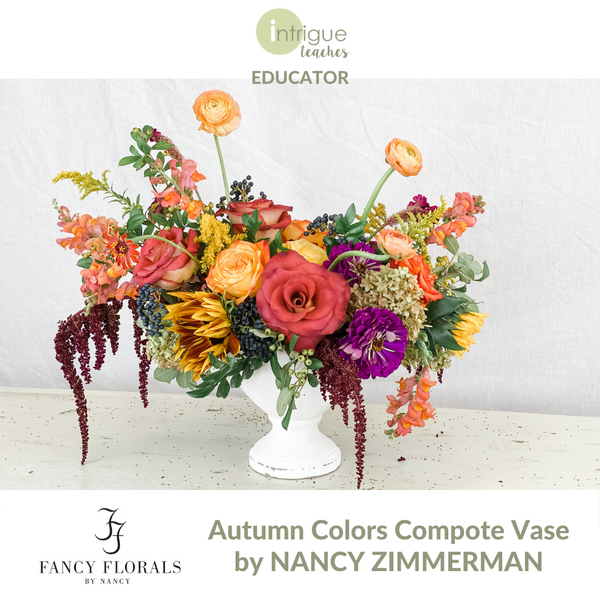 Autumn Colors Compote Vase