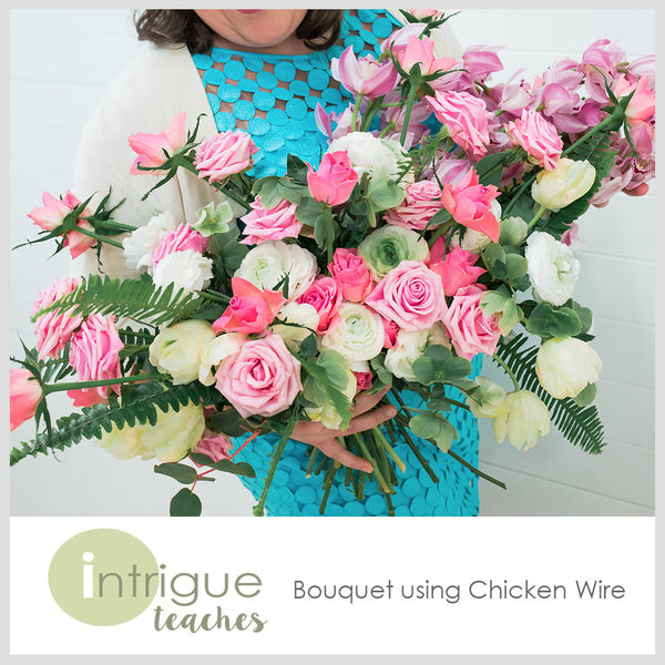 Tutorial Chicken Wire Bouquet
