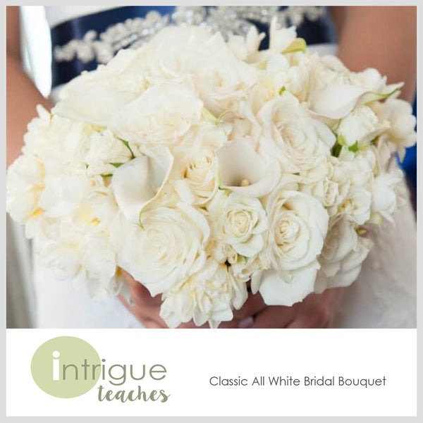 Classic All White Bridal Bouquet