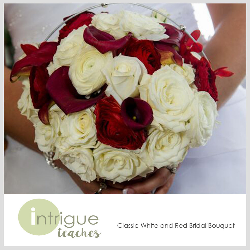 Classic White & Red Bouquet