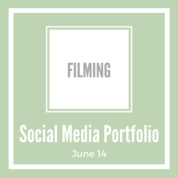 Social Media Portfolio Workshop - Filming
