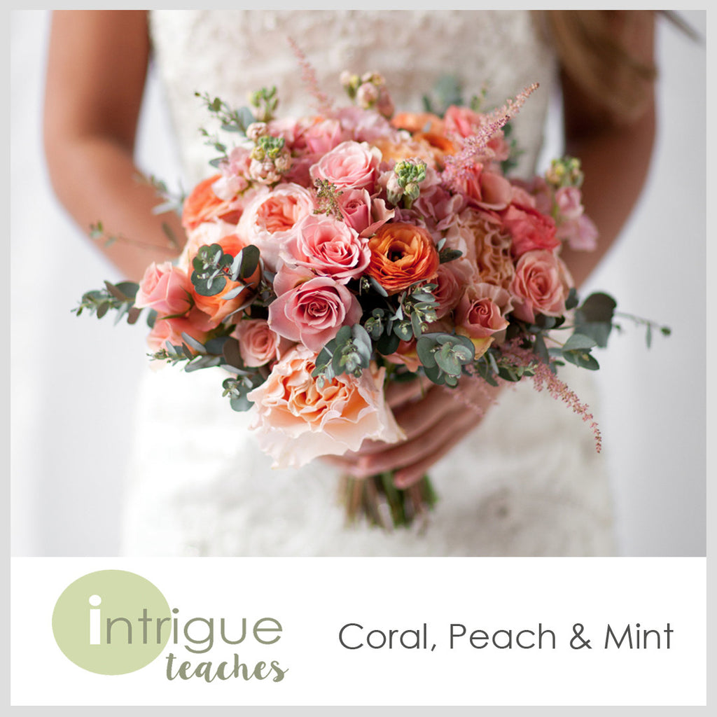 Coral, Peach & Mint Bouquet