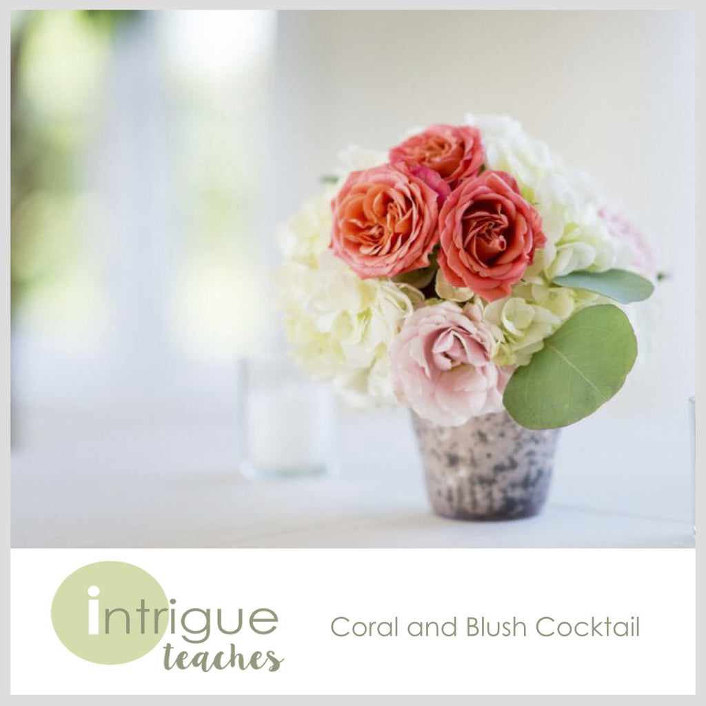 Coral and Blush Cocktail