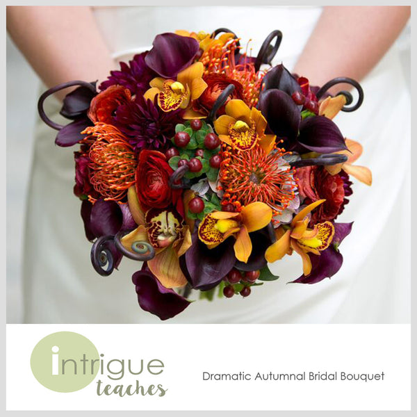Dramatic Autumnal Bridal Bouquet