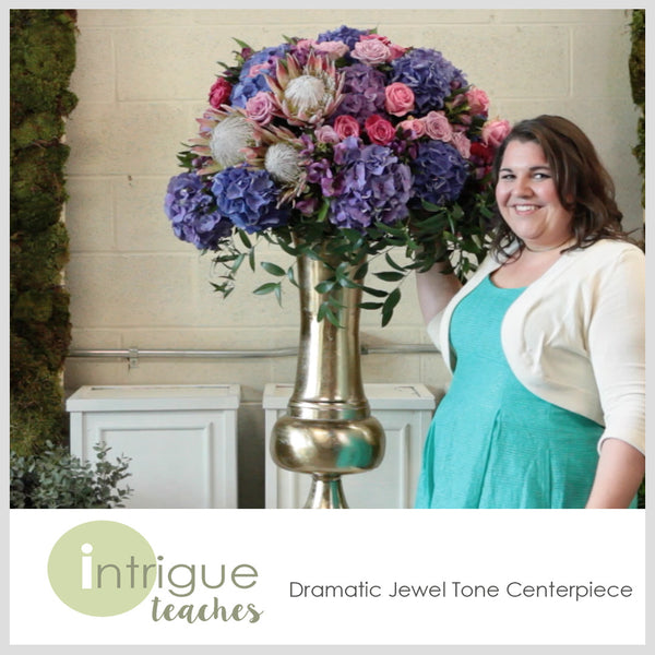 Dramatic Jewel Tone Centerpiece