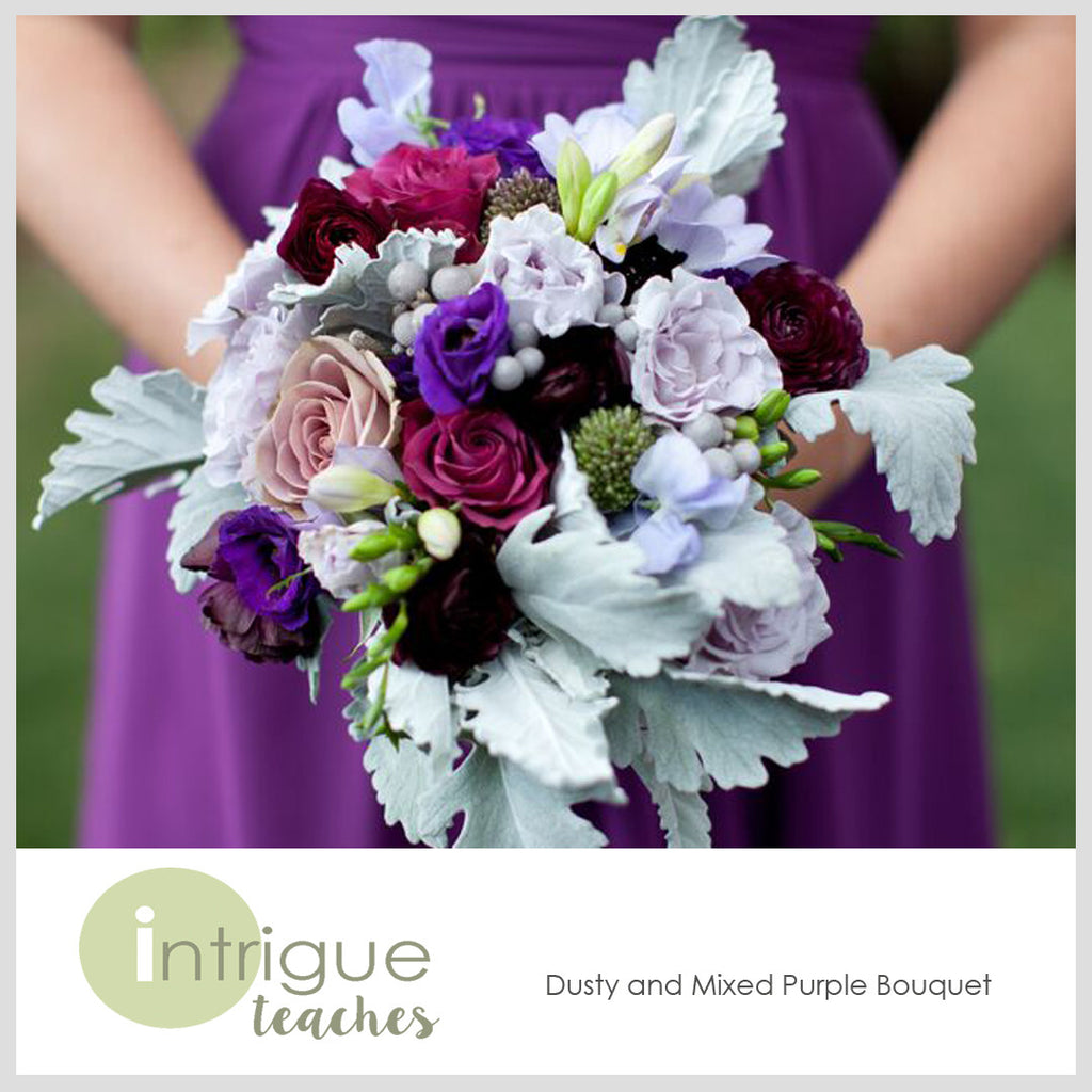 Dusty & Mixed Purple Bouquet