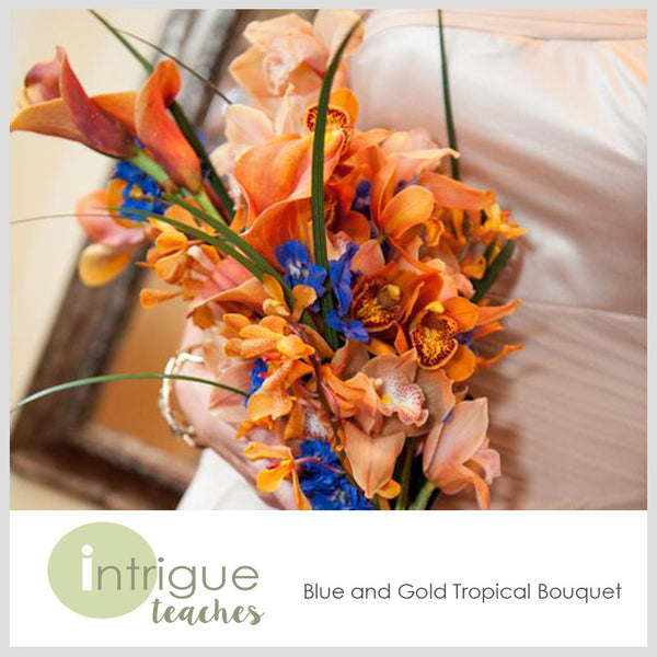 Blue & Gold Tropical Bouquet