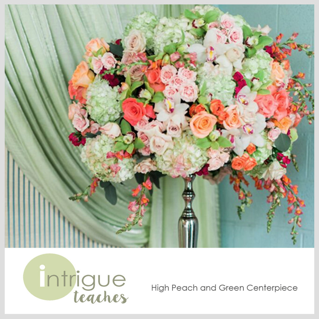High Peach & Garden Centerpiece