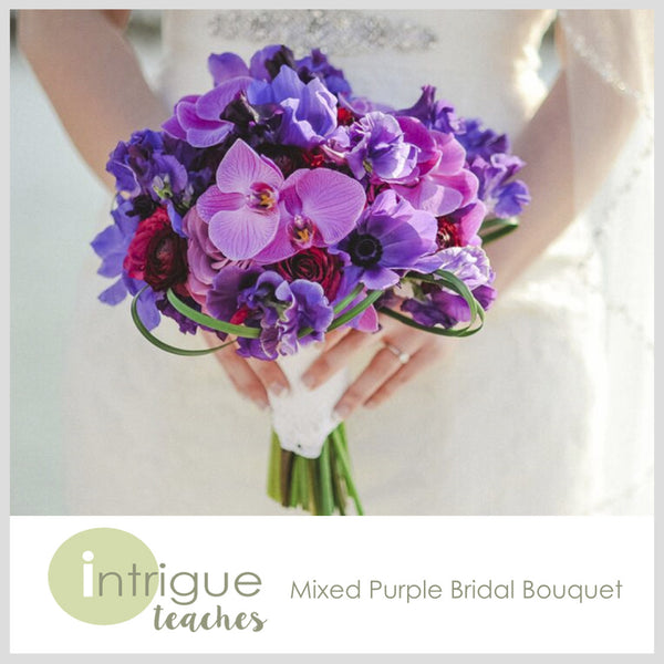 Mixed Purple Bridal Bouquet