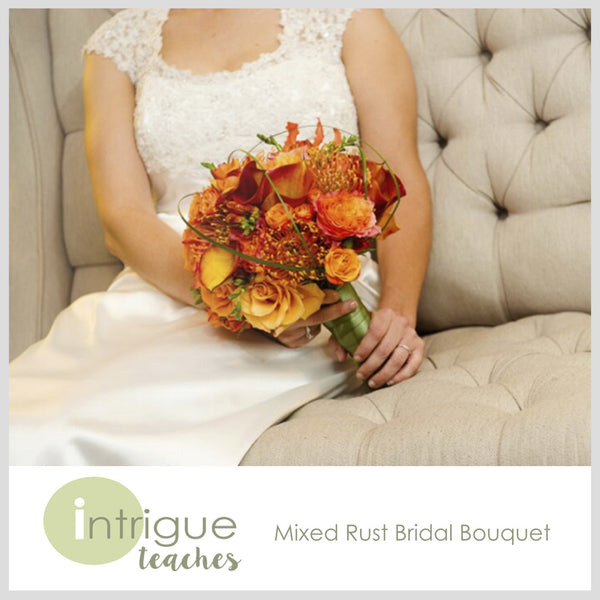 Mixed Rust Bridal Bouquet