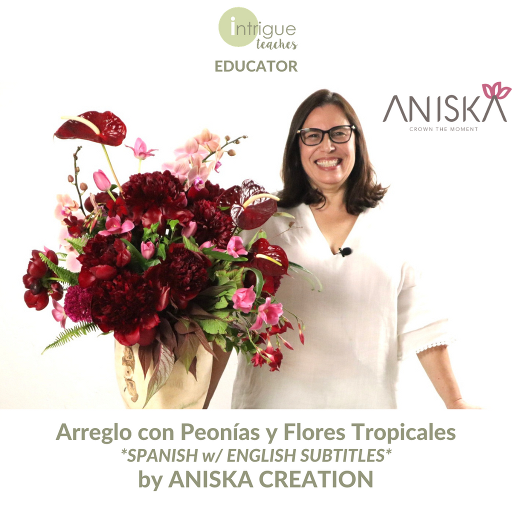 Arreglo con Peonías y Flores Tropicales (Arrangement with Peonies and Tropical Flowers)