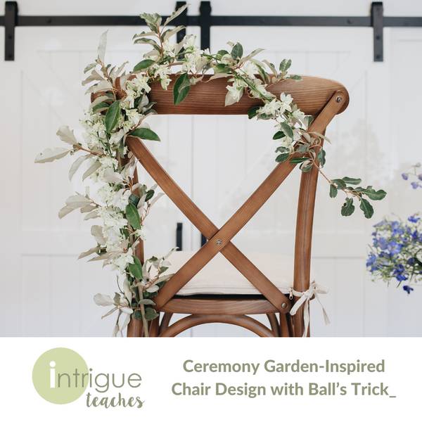 Ceremony Garden-Inspired Chair Design with Ball's Trick