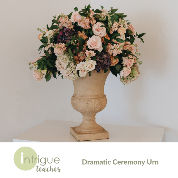 Dramatic Ceremony Urn Centerpiece