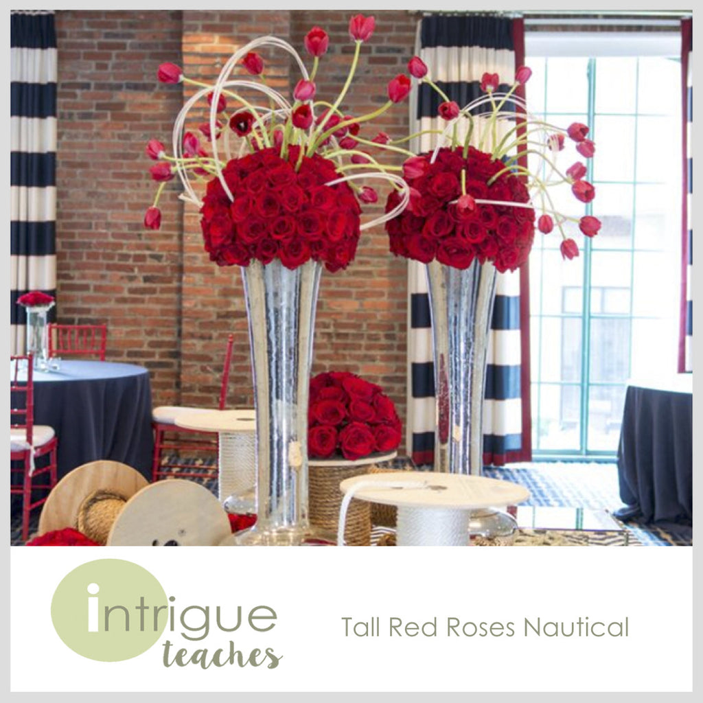 Tall Red Roses Nautical