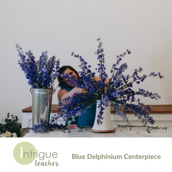 Blue Delphinium Centerpiece