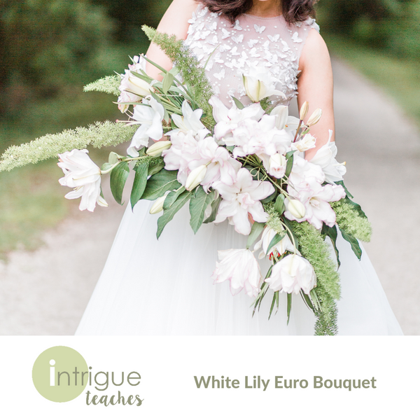 White Lily Euro Holder Bouquet