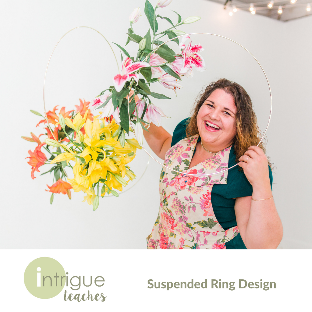 Suspended Lily Ring Installation
