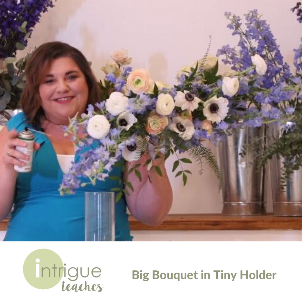 Big Bouquet in Tiny Holder