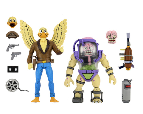 "Teenage Mutant Ninja Turtles (Cartoon) – 7"" Scale Action Figure – Ace Duck & Mutagen Man 2 Pack (International) PRE-ORDER!"