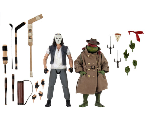 "NECA - Action Figures - Teenage Mutant Ninja Turtles – 7"" Scale Action Figure – Casey Jones & Raphael in Disguise 2 pack"